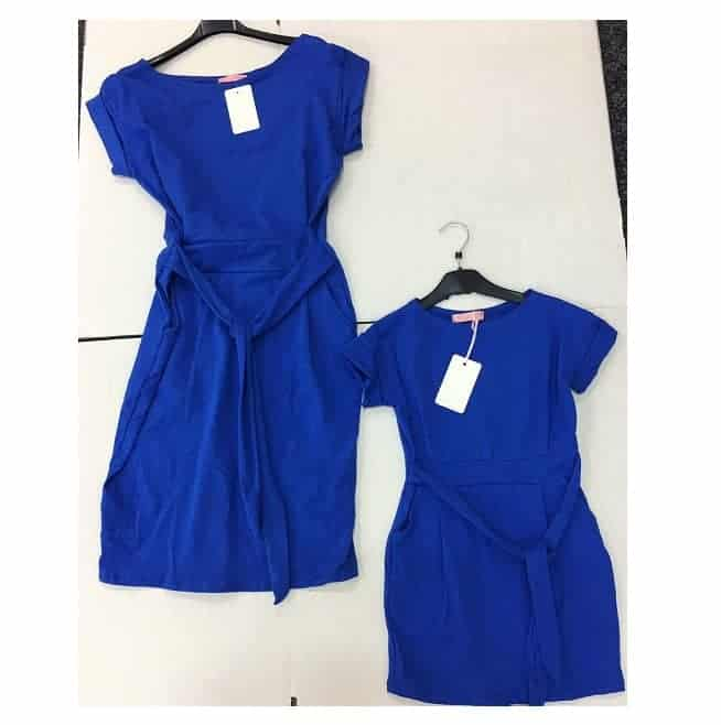 Basic Babykleding.Mommy Me Basic Dress Blue Mi Toetie Babykleding En Kinderkleding